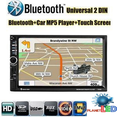 radio gps pantalla doble din touch bluetooth cd usb aux tv