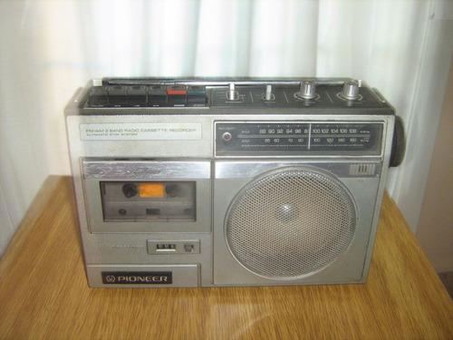 radio grabador pioneer usado - a pilas