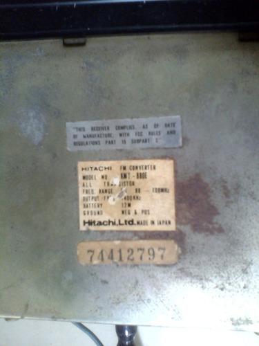 radio  hitachi antiguo para automovil japones usado
