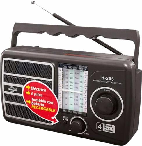 radio honshu japan gran alcance am/fm-4 bandas recargable