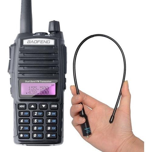 rádio ht comunicador baofeng uv82 rádio fm + 1 antena nagoya