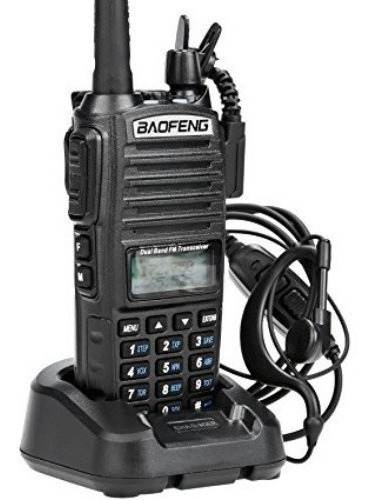 radio ht comunicador dual band vhf uhf baofeng uv82 + fone