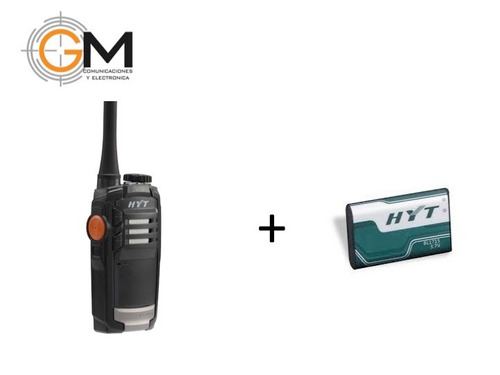 radio hyt tc-320 16canales + bateria adicional hyt bl1715