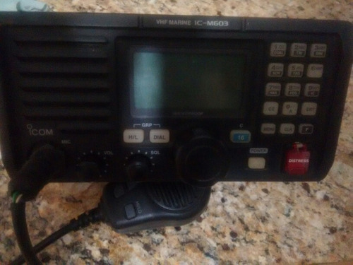 radio icom banda marina vhf  modelo m-ic603