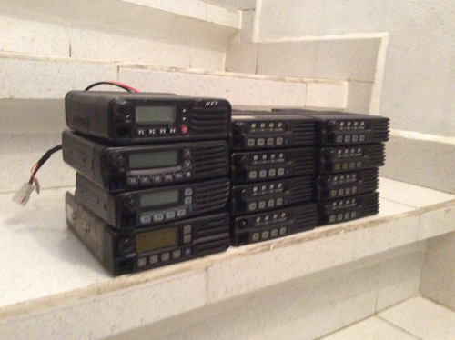 radio icom icf-121s movil de 8 ch y 50 w seminuevo completo