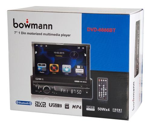 radio in dash 7¨dvd usb bluetooth sd bowmann dvd 6666bt
