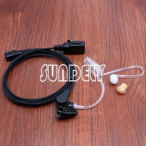 radio kenwood 2 hilos seguridad vigilancia kit auricular aur
