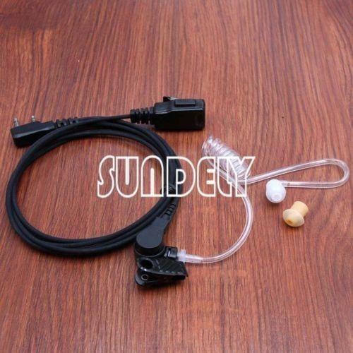 radio kenwood 2 hilos seguridad vigilancia kit auricular ear