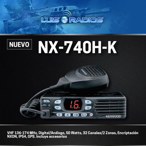 radio kenwood nx740 vhf digital excelente promocion