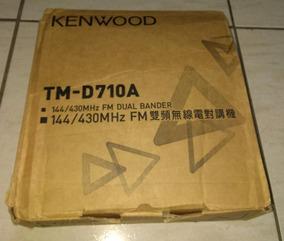 Radio Kenwood Tm-d710a Vhf/uhf, Aprs, Tnc, Ax25, Packet + Cabo De Dados  Para Conexão Com Pc
