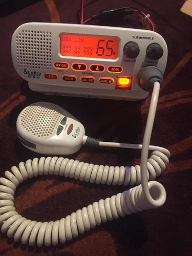 radio marino cobra vhf mr f45-d sumergible clase d 25w