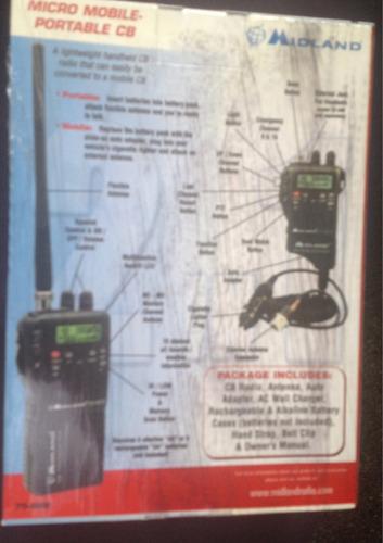 radio midland 75-822 40 canales 11 metros (2 en 1)