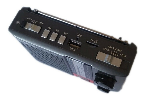 radio mini linternas 4 bandas am/fm/ sw1-2 recargable y pila