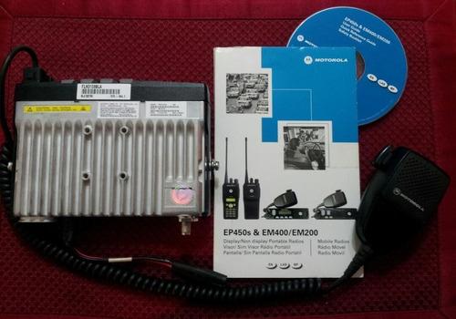 radio motorola em400 vhf base / móvil.