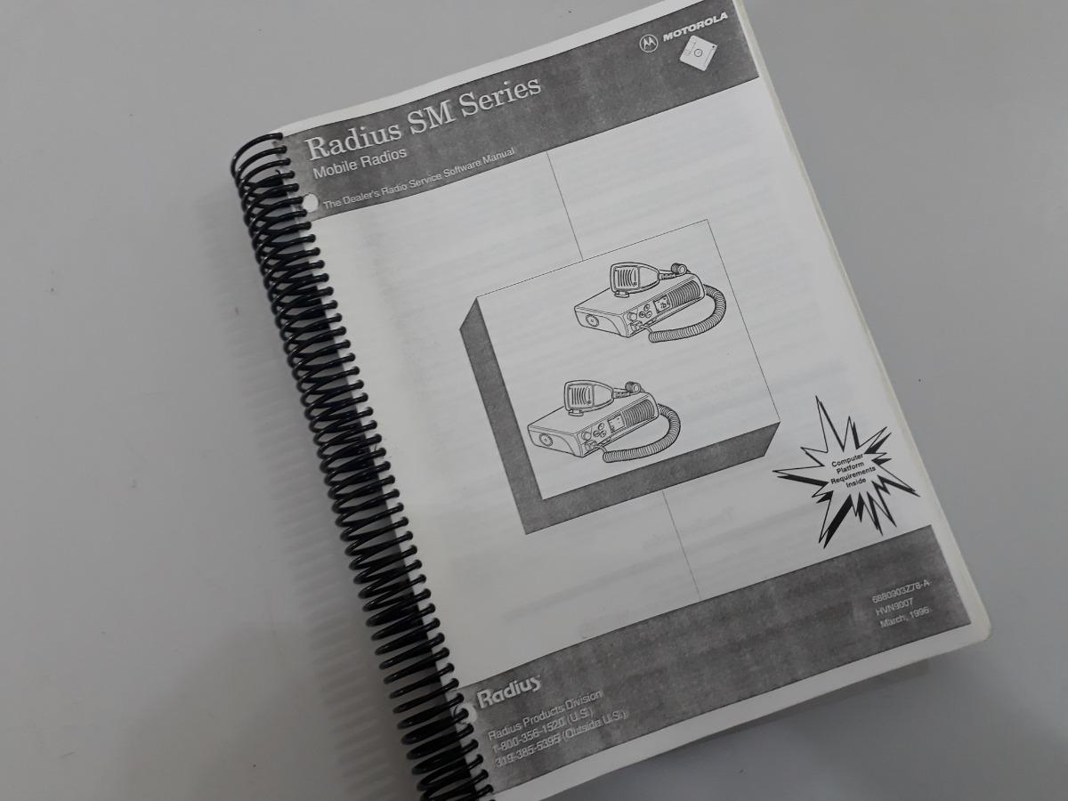 Rádio Motorola Sm50 Sm120 Manual Do Software De Programação
