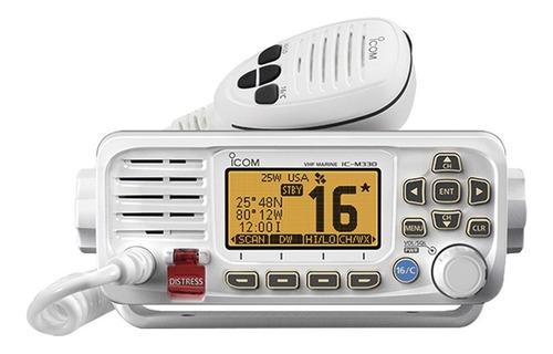 radio móvil marino icom, color blanco, 25 w modelo icm330/21