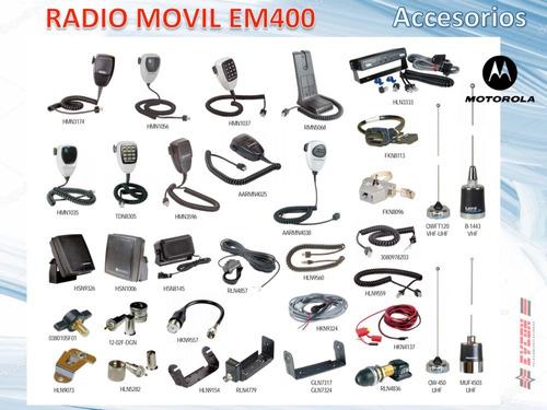 radio movil motorola - em400 vhf 136-162 45w 32c nuevos orig