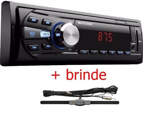 radio mp3 player multilaser sd/mmc card/usb/fm/mp3  + brinde