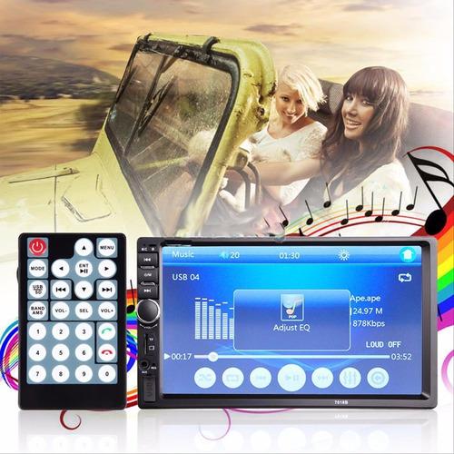 radio mp5 táctil 7'' doble din bluetooth reversa versio 2017