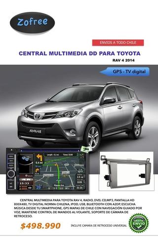 radio multimedia gps, tv digital, bluetooth dvd toyota rav4
