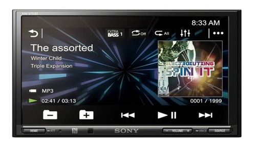 radio multimedia sony xav-v751bt apple android 7''