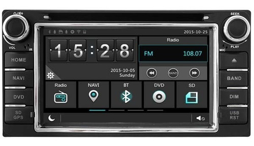 radio navegador carro toyota land cruiser gps bluetooth