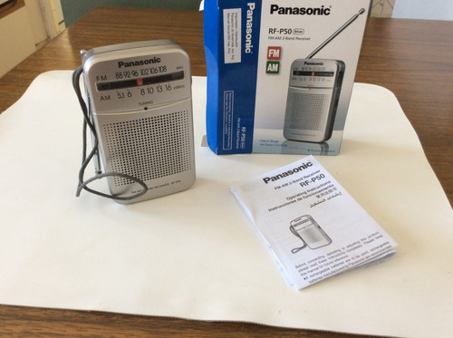radio panasonic rf-p50 am/fm