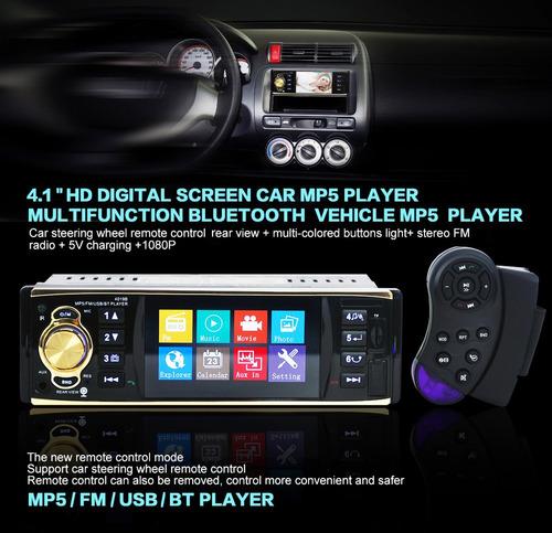 radio pantalla estereo 4.1 inch mp5 universal cámara gratis