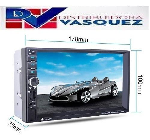 radio pantalla slim 7'' 2 din touch bluetoth mp5 usb fm auxv