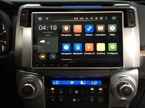 radio para carro android wifi gps mirrorlink 10' pulgadas hd