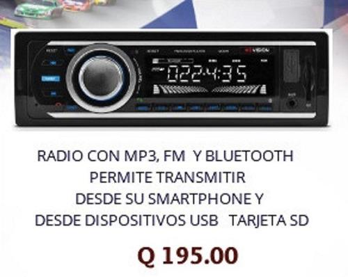 radio para carro con mp3 y bluetooth