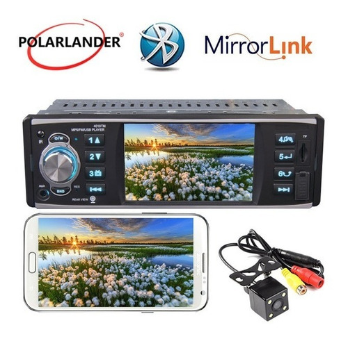 radio para carro con pantalla video 4 pulgadas + mirror lin