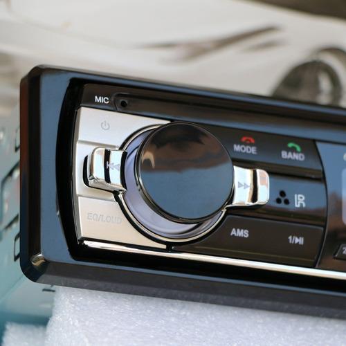 radio para carro usb aux sd bluetooth excelente sonido 60wx4