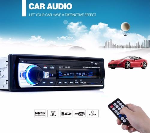 radio para carro usb aux sd excelente sonido  bluetooth