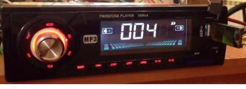 radio para carro usb sd aux radio fm pantalla led garantia