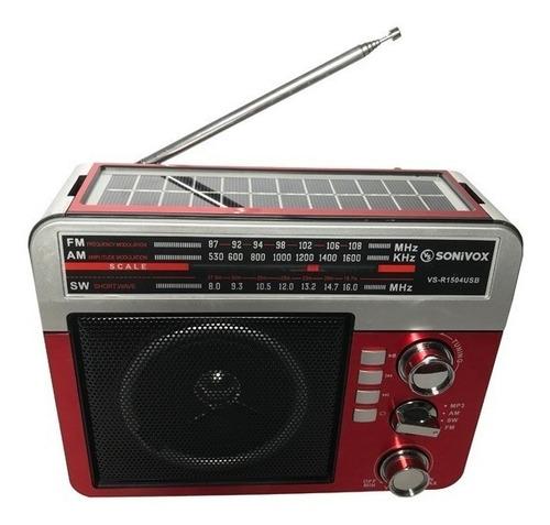 radio parlante inalámbrico am/ fm/ sw con panel solar y usb