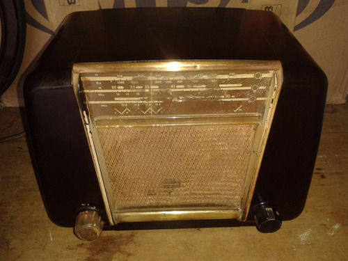 radio philips antigo funcionado caixa baquelite (only wood)