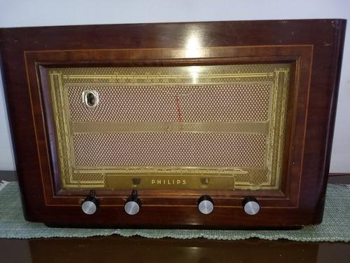 rádio philips valvulado br 639 a 6 faixas déc de 40