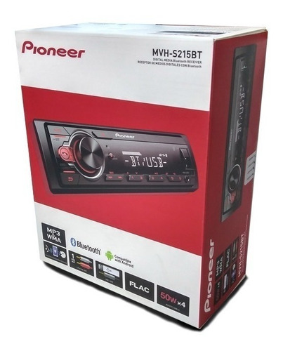 radio pioneer auto mvh-s215bt usb bluetooth am/fm