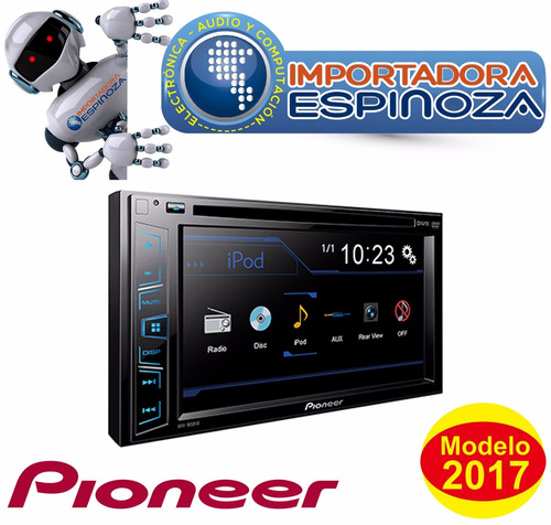 radio pioneer avh 195dvd  6,2 pulg multimedia player stereo