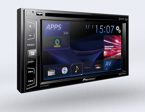 radio pioneer avh-x1850dvd, tactil, usb, doble din, mixtrax