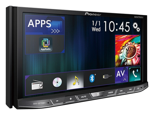 radio pioneer avh-x8750bt  mixtrax iphone eq13 desmontable