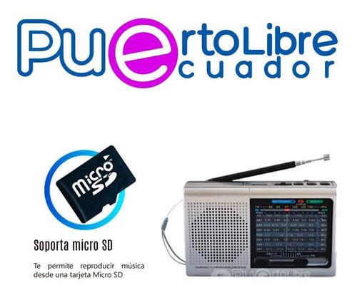 radio portatil 9 bandas + bateria + usb + micro + bluetooth