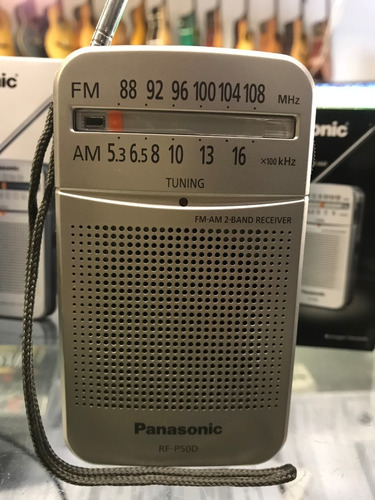 radio portatil am/fm panasonic rf-p50+pilas+auricular+adapta