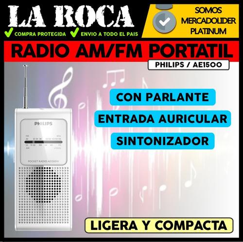 radio portatil analogica fm am parlante de bolsillo