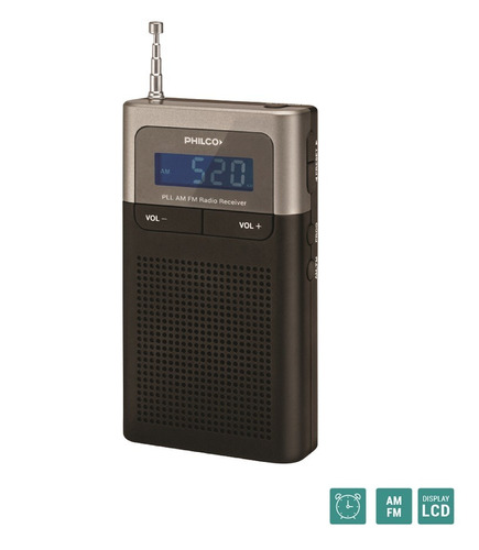 radio portátil con sintonizador digital philco prc30pll