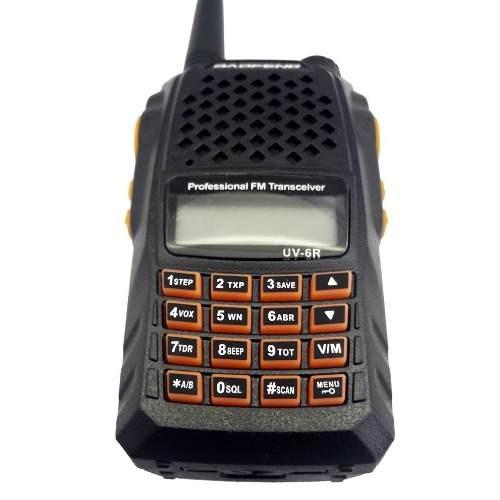 rádio portátil fm bateria lítio-ion redução de ruído baofeng