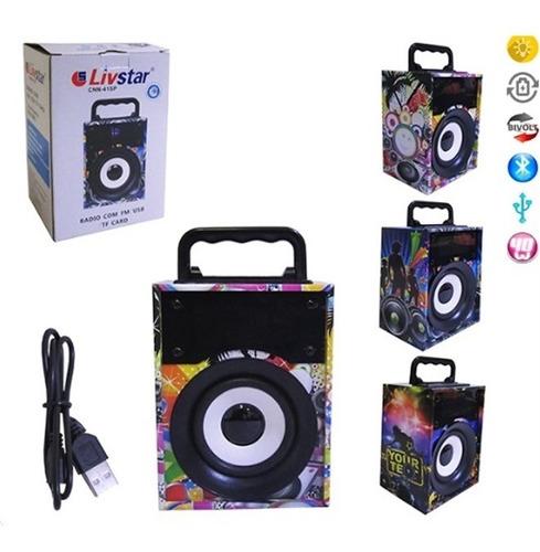 radio portatil fm livstar caixa de som bluetooth festa usb