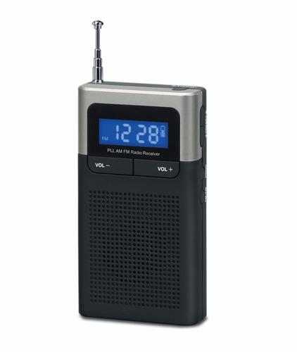 radio portátil fm/am reloj y alarma rca sp-1251pll