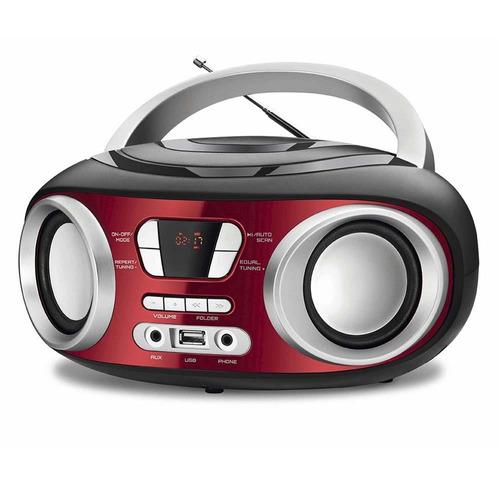rádio portátil mondial boom box 6w nbx-17 vermelho - bivolt